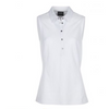Galvin Green Womens Minnah SLEEVELESS Polo - WHITE