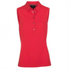 Galvin Green Womens Minnah SLEEVELESS Polo - Lipgloss Red