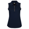 Greg Norman Women's S/L Contrast Trim Polo - NAVY