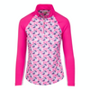 Greg Norman Women's 1/4 Zip Solar Xp Pullover - PINK TAFFY