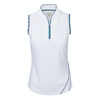 Greg Norman Women's S/L Valeria Tulip Neck - WHITE