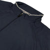 Donald Ross Mens Packable Wind / Rain Shell - Half Sleeve Half Zipper - STEEL GREY