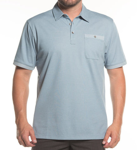 Alvin Polo - Heather Provincial Blue