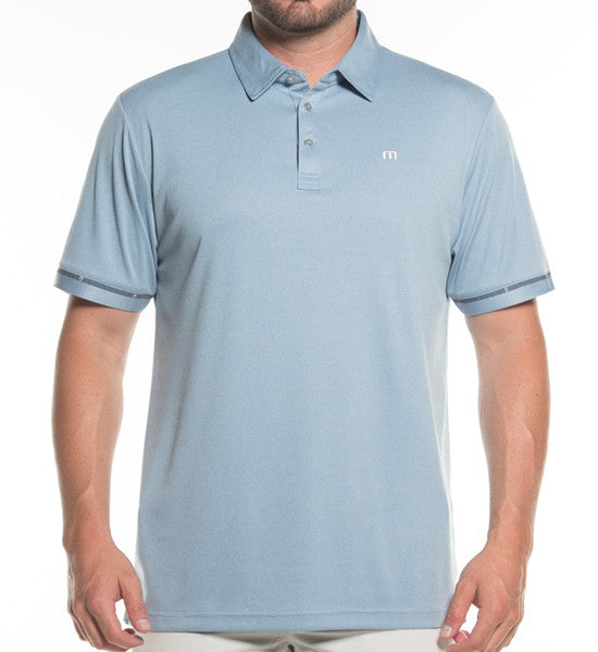 Outboard Polo - Heather Provincial Blue
