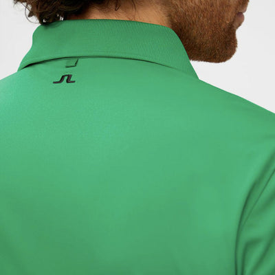 J.LINDEBERG MENS M TOUR TECH REG FIT TX JERSEY POLO SHIRT - STAN GREEN
