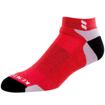 KENTWOOL MENS TOUR PROFILE ANKLE SOCKS - RED/GREY/BLACK