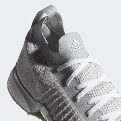 ADIDAS MEN'S GOLF TOUR360 XT PK SPIKED SHOES - GREY TWO / CLOUD WHITE / SILVER METALLIC