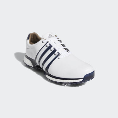 ADIDAS MEN'S TOUR360 XT SPIKED SHOES - WHITE/NAVY/SILVER (PRE ORDER)