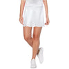 Womens Catwalk A-Line Knit Skort - White