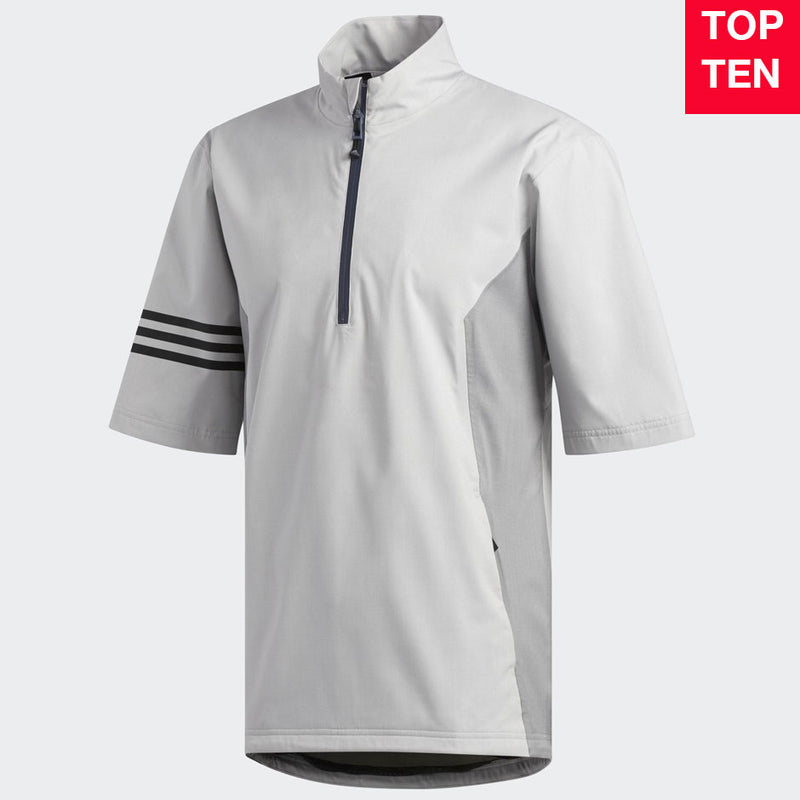 Adidas Mens Golf ClimaProof Waterproof Short Sleeve Rain Jacket - GREY