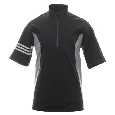 Adidas Mens Golf ClimaProof Waterproof Short Sleeve Rain Jacket - BLACK (PRE ORDER)