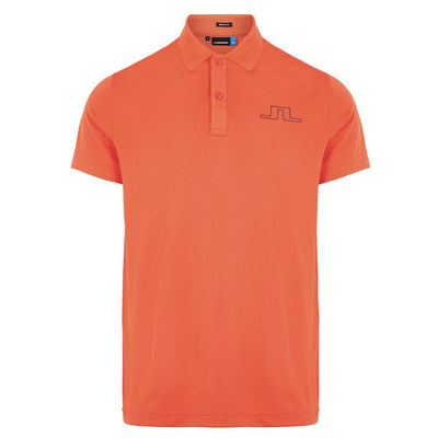 J.LINDEBERG MENS ALAN REG FIT POLO SHIRT - TOMATO RED