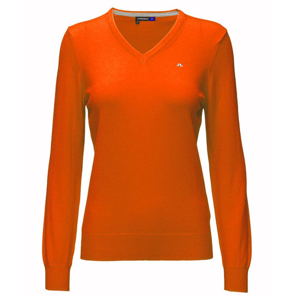 J.L Amaya True Merino Knit Racing Orange - Ladies
