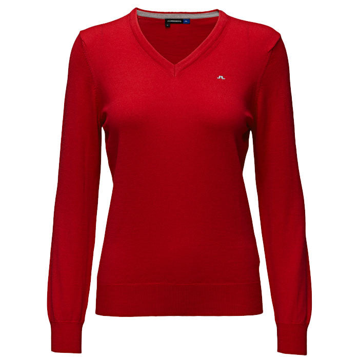 J.L Amaya True Merino Knit Red Intense - Ladies