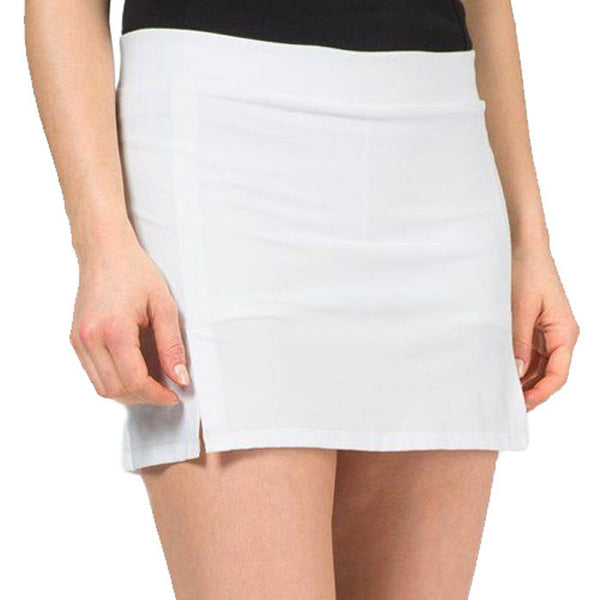 J.L Amelie Tech Polyamide Skirt - White