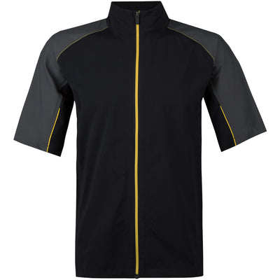 Galvin Green Men's ARCH Paclite Short Sleeve Gore-Tex Jacket - BLACK/YELLOW