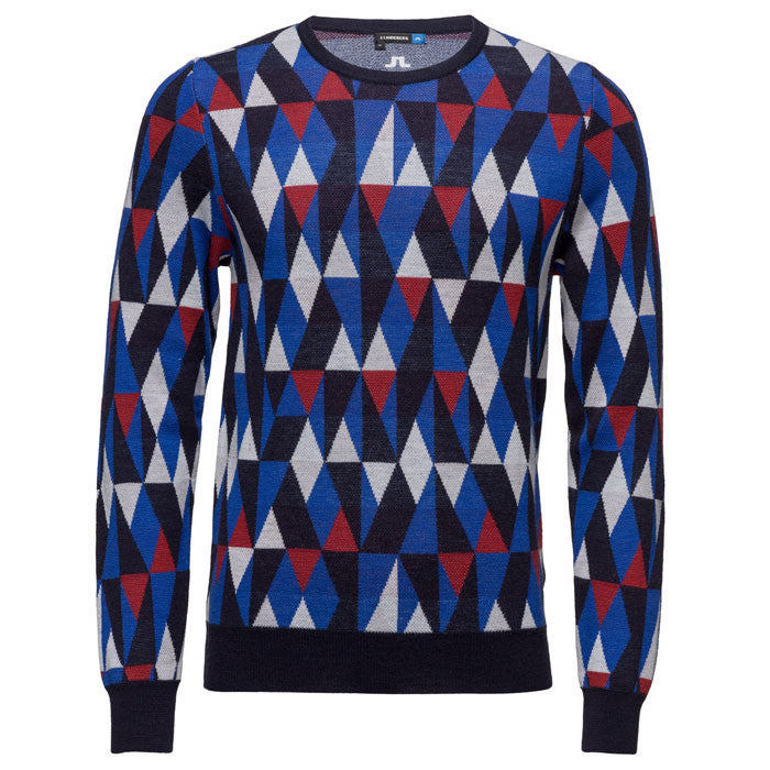 J.L Argyle Pattern Sweater - Navy/Purple