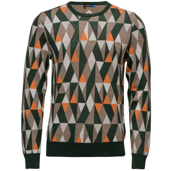 J.L Argyle Pattern Sweater - Dark Green