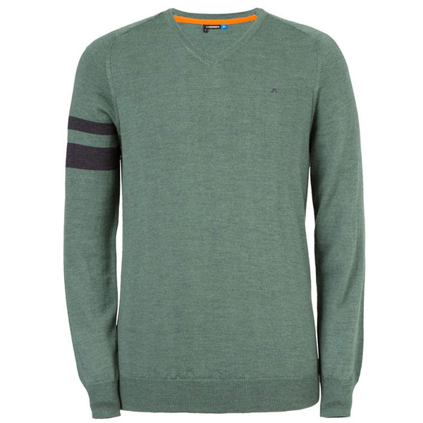J.L Armstriped True Merino Knit - Muddy Green
