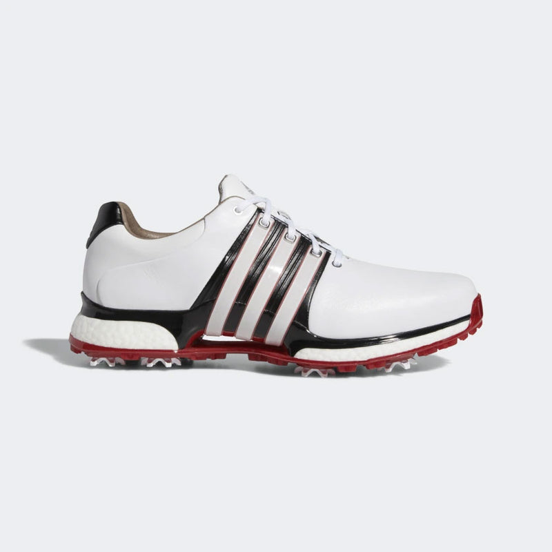 ADIDAS MEN'S TOUR360 XT SHOES - CLOUD WHITE / CORE BLACK / SCARLET