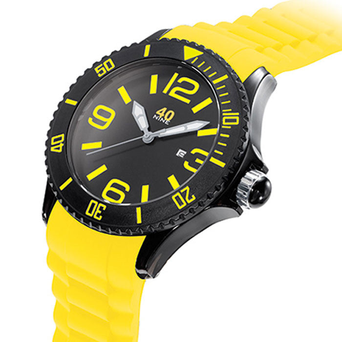 40NINE Yellow and Black Watch