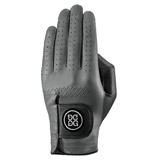G-Fore Blocked Charcoal Carbretta Leather Glove WOMENS