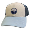 Johnnie O Trucker Hat - Adjustable Strap - HORSESHOE BAY - LITE GULF BLUE/MIDNIGHT
