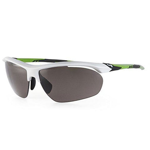 Sundog Bolt Sunglasses - White Green/Grad Smoke