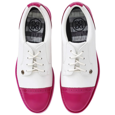 G/FORE WOMENS CAP TOE GALLIVANTER GOLF SHOES - DAY GLO PINK