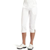 Womens Catwalk Capri - Cotton/Spandex - White