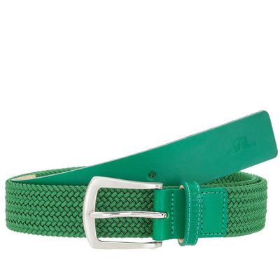 J.LINDEBERG Mens - CASPIAN ELASTIC BRAID GOLF BELT - GOLF GREEN