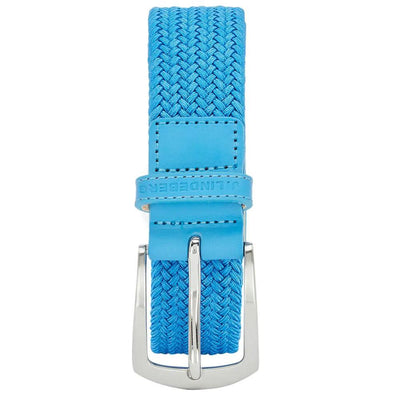 J.LINDEBERG Mens - CASPIAN ELASTIC BRAID GOLF BELT - OCEAN BLUE
