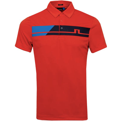 J.LINDEBERG Mens Slim Clark TX Jersey Polo - RED