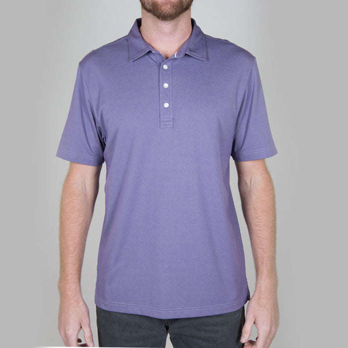 Travis Mathew Crenshaw Heather Purple Polo golfanything.ca