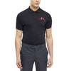 J Lindeberg Mens - BIG BRIDGE REG TX JERSEY POLO SHIRT - Black