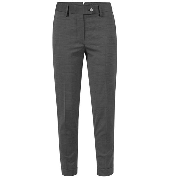 J.L Dionne Stretch Wool Trousers Dark Grey - Ladies