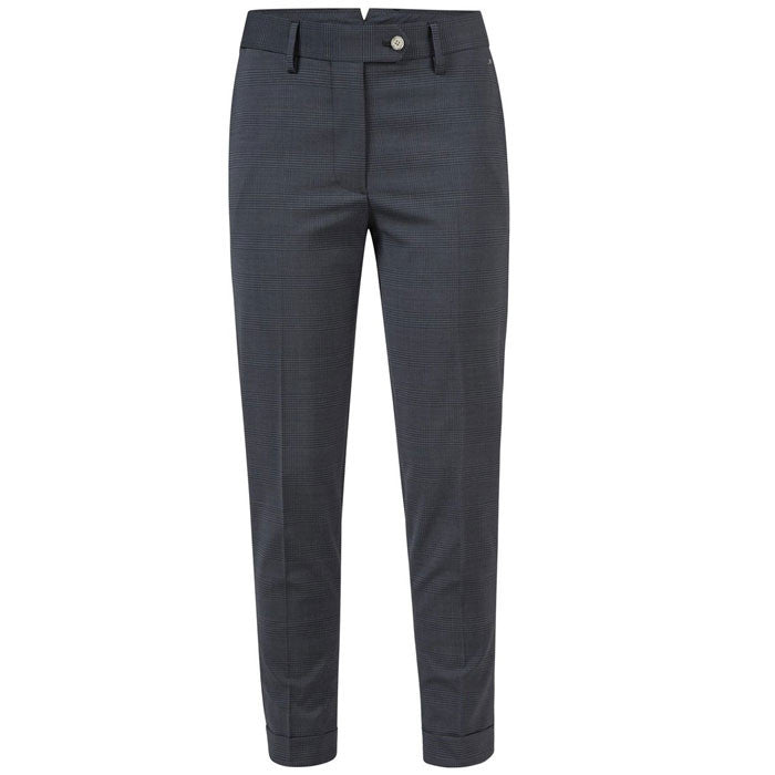 J.L Dionne Stretch Wool Trousers Indigo - Ladies