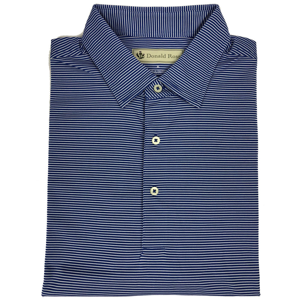 "Mens Short Sleeve 2-color ""Micro-Stripe"" Jersey - NAVY/CREAM"