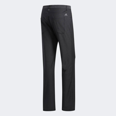 Adidas Men's ULTIMATE365 HEATHERED FIVE-POCKET PANTS - BLACK