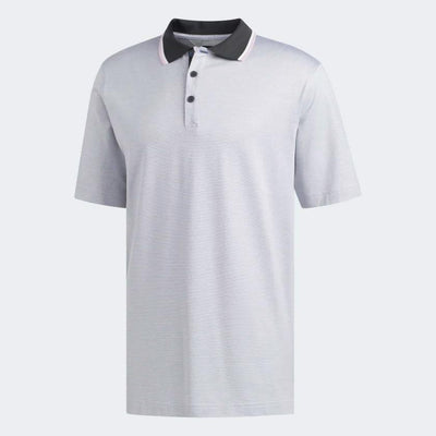 adidas Men's ADIPURE PREMIUM TWO-TONE POLO SHIRT - CARBON