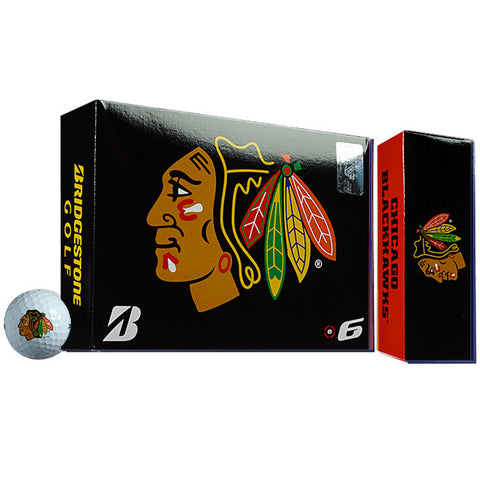 Bridgestone NHL® e6 Chicago Blackhawks Golf Balls
