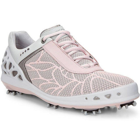 ECCO Women's - Cage-Evo Golf Shoes - Silver Pink Textile