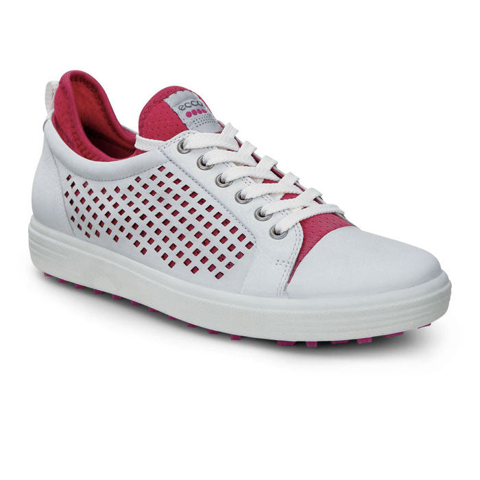 ECCO WOMENS SUMMER HYBRID - WHITE/RASPBERRY