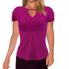 Womens Catwalk Front2Back Short Sleeve Golf Top - Magenta
