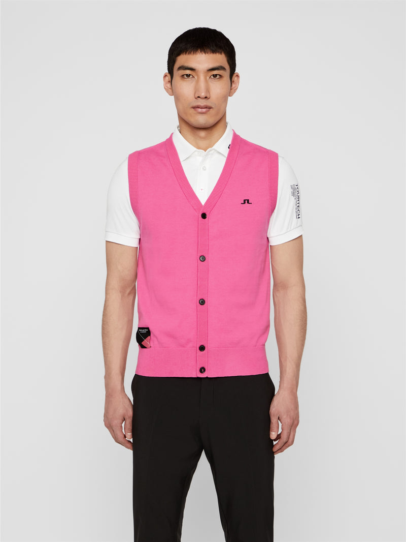 J.LINDEBERG MENS Ltd Edition future.archive_Edmund Sweater Vest - POP PINK