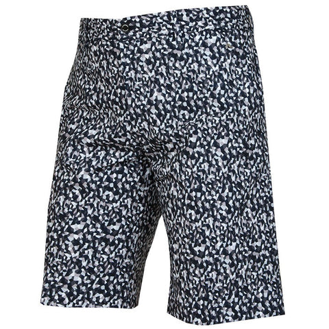 J.L Eloy Micro Stretch Shorts - Mosaic Navy