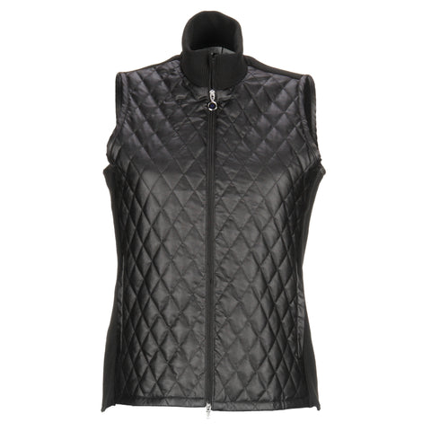 Greg Norman Ladies Faux Leather Quilted Vest