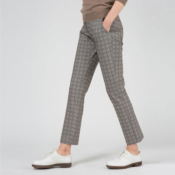 J.L Freja Micro Stretch Pants Tiled Steel - Ladies