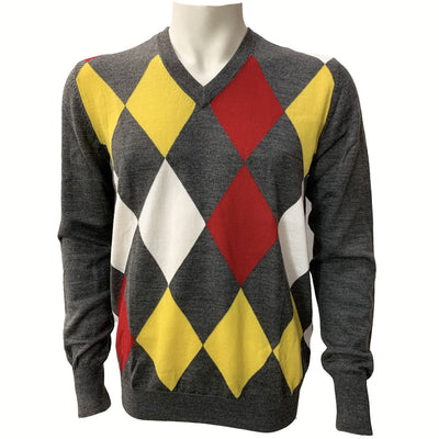 Galvin Green Craig Mens V-NECK Sweater - VIBRANT YELLOW
