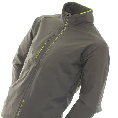 Galvin Green Mens ALFRED Gore-Tex Waterproof Golf Jacket - BELUGA/LEMONADE